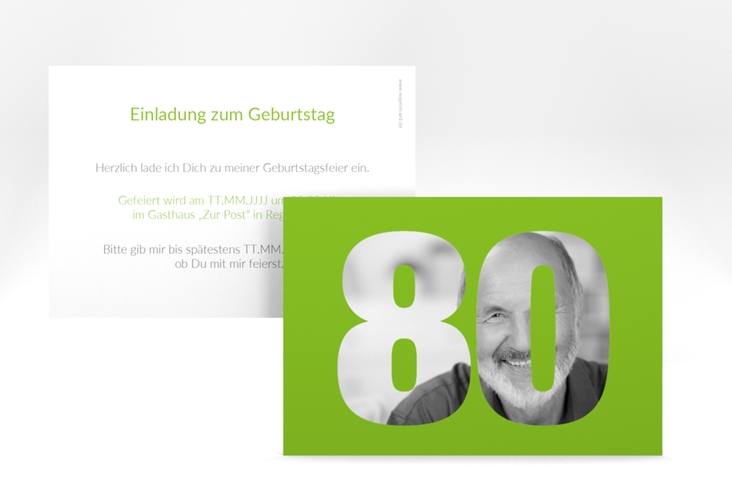 "Einladungskarte ""Numbers"" A6 quer"