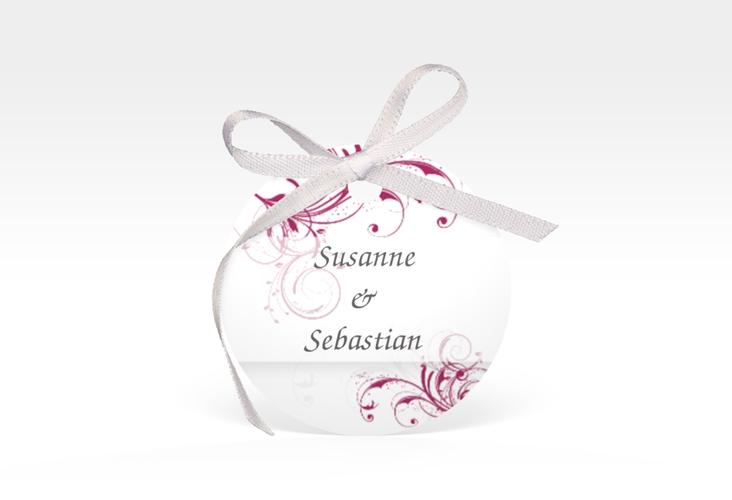 """Geschenkanhänger Hochzeit """"Palma"""" Geschenkanhänger, rund pink"""