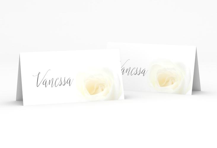 """Tischkarte Hochzeit """"Rose"""" Tischkarten weiss"""