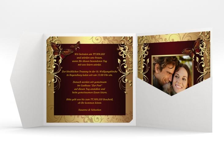 "Hochzeitseinladung ""Toulouse"" Pocketfold"