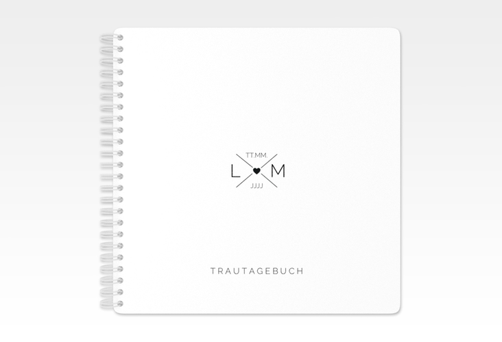 """Trautagebuch Hochzeit """"Initials"""" Trautagebuch Hochzeit schwarz"""