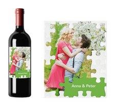 """Weinetikett zur Hochzeit """"Puzzle"""""""
