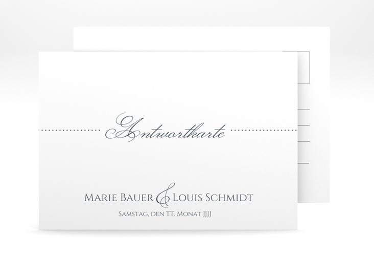 "Antwortkarte Hochzeit ""Pure"" A6 Postkarte grau"