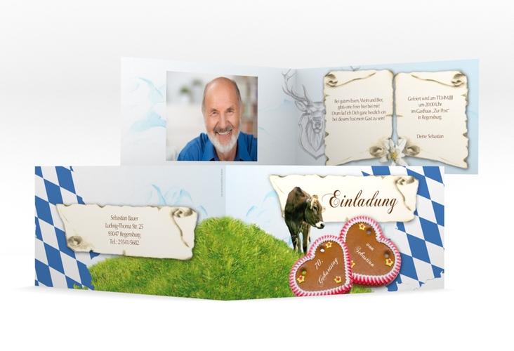 "Einladungskarte ""Joseph/Josephine"" DIN lang Klappkarte"