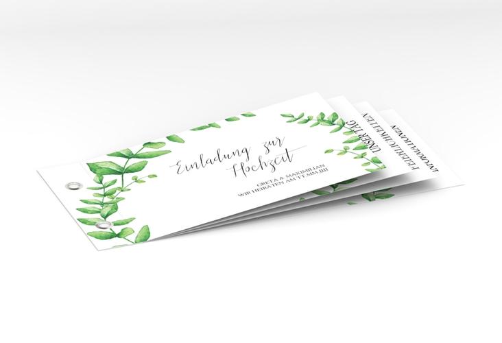 """Hochzeitseinladung """"Botanic"""" Booklet weiss"""