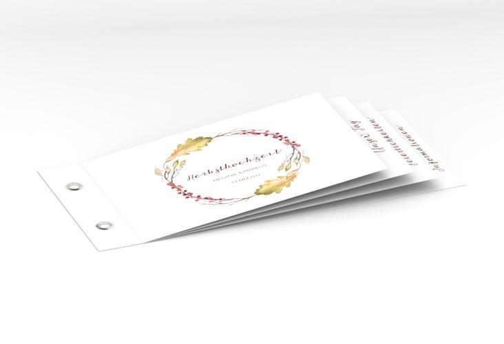 """Hochzeitseinladung """"Herbsthochzeit"""" Booklet"""