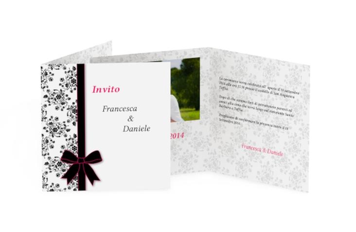 Inviti matrimonio collezione Bologna Quadratische Klappkarte