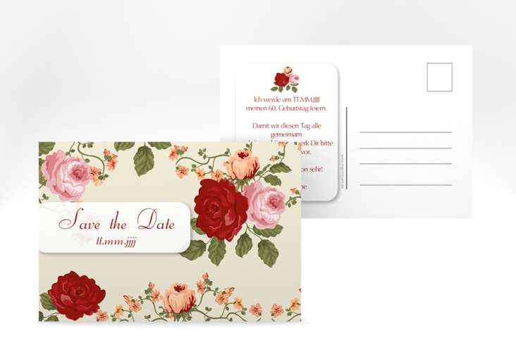 "Save the Date-Postkarte ""Rosemarie"" A6 Postkarte"