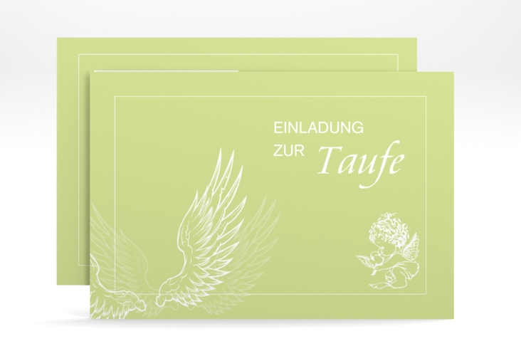 "Einladungskarte Taufe ""Angel"" A6 quer"