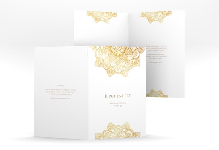 "Kirchenheft Hochzeit ""Delight"" DIN A5 geklappt gold"