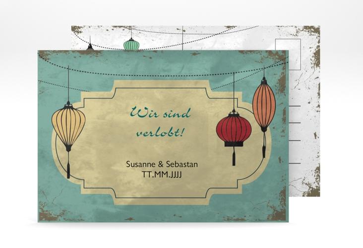 "Verlobungskarte Hochzeit ""Turin"" A6 Postkarte"