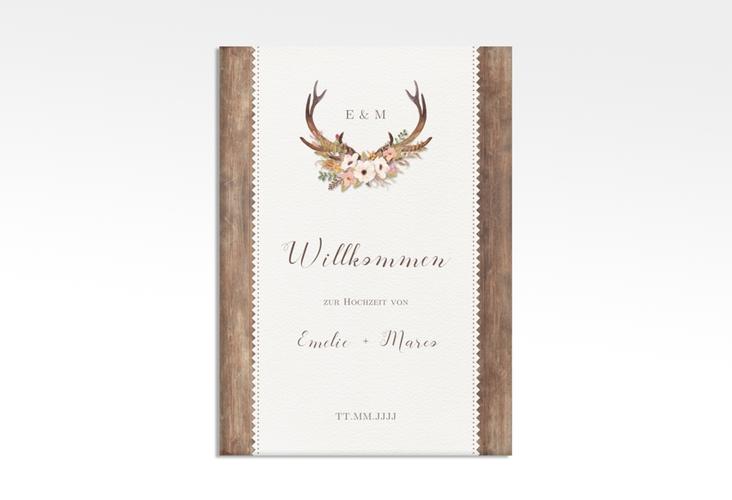 "Willkommensschild Leinwand ""Heimatjuwel"" 50 x 70 cm Leinwand braun"