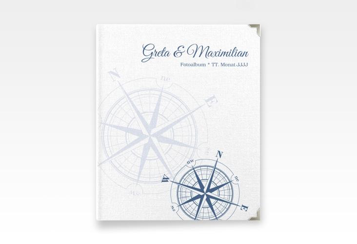 """Hochzeitsalbum """"Windrose"""" 21 x 25 cm blau"""