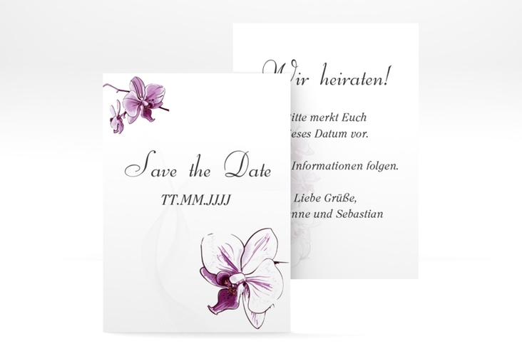 "Save the Date-Visitenkarte ""Modena"" Visitenkarte weiss"