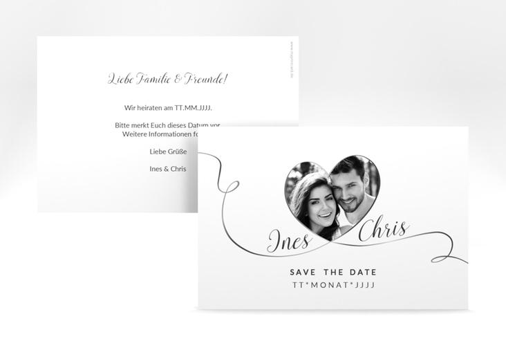 "Save the Date-Karte Hochzeit ""Dolce"" A6 quer weiss"