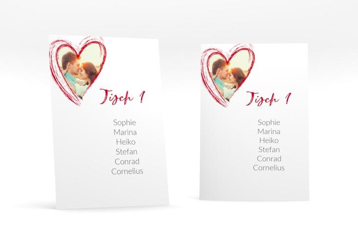"""Tischaufsteller Hochzeit """"Liebe"""" Tischaufsteller rot"""