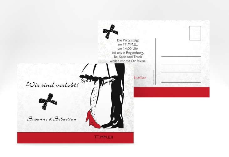 "Verlobungskarte Hochzeit ""Straßburg"" A6 Postkarte"