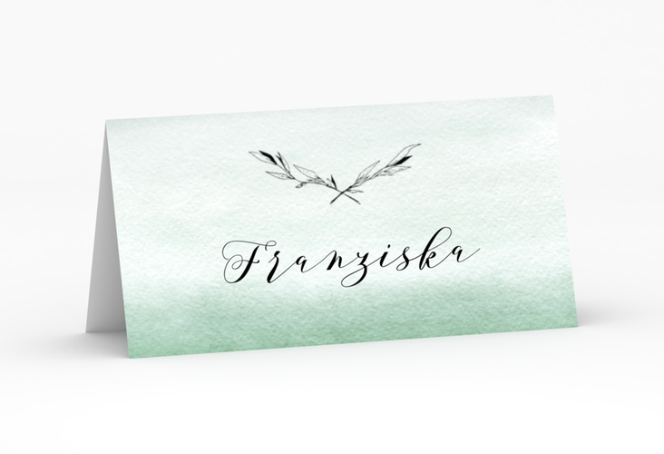 """Tischkarte Hochzeit """"Divine"""" Tischkarten gruen"""
