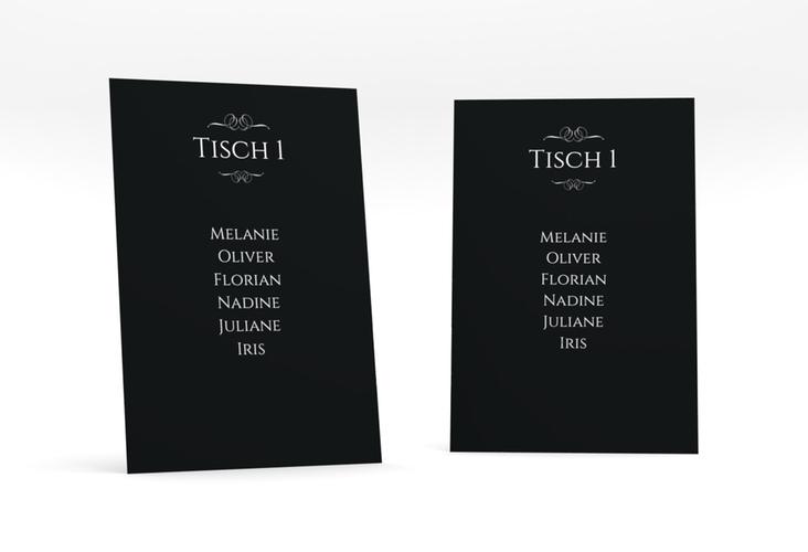"""Tischaufsteller Hochzeit """"Elegancy"""" Tischaufsteller schwarz"""