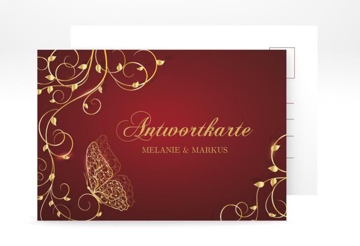 """Antwortkarte Hochzeit """"Eternity"""" A6 Postkarte"""