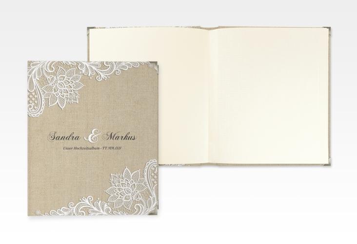 """Hochzeitsalbum """"Lace"""" 21 x 25 cm beige"""