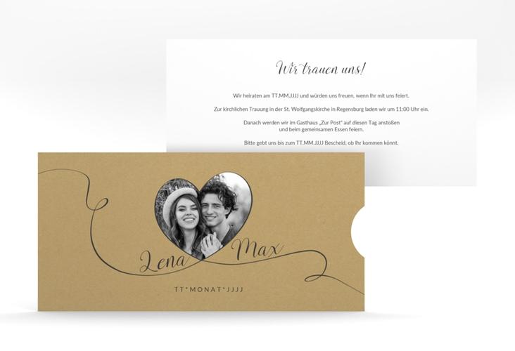 """Hochzeitseinladung """"Herzensbund"""" Einsteckkarte"""