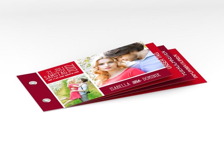 """Hochzeitseinladung """"Gallery"""" Booklet rot"""
