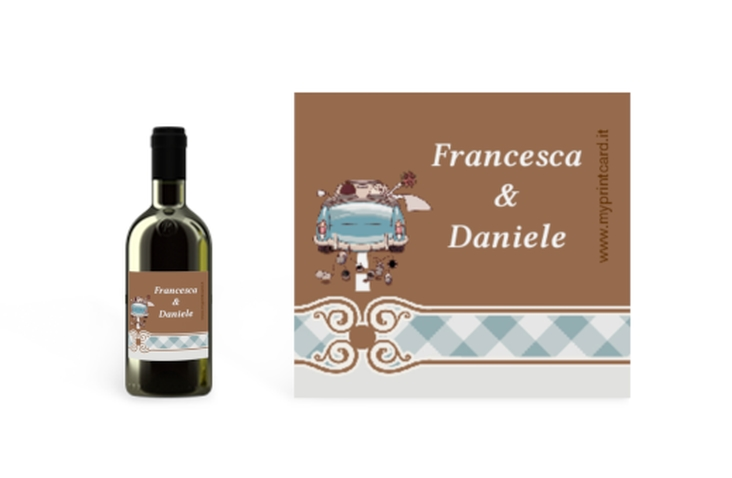 Etichette piccolo matrimonio collezione Stoccarda Etikett Piccolo