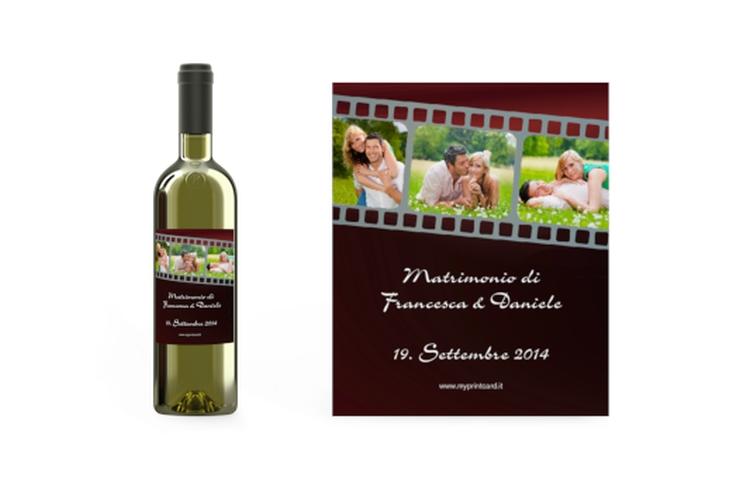 Etichette vino matrimonio collezione Rieti Etikett Weinflasche 4er Set