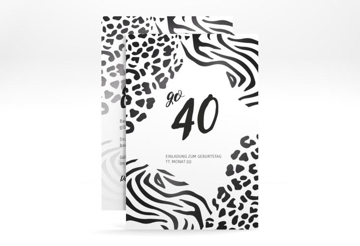 """Einladungskarte """"Wild"""" A6 hoch"""