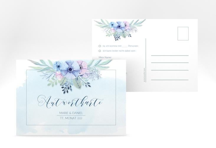 """Antwortkarte Hochzeit """"Surfinia"""" A6 Postkarte"""