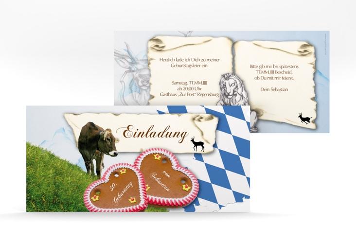 "Einladungskarte ""Joseph/Josephine"" DIN lang"