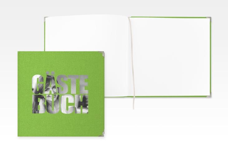 """Gästebuch Selection Geburtstag """"Jahreszahl"""" Leinen-Hardcover gruen"""