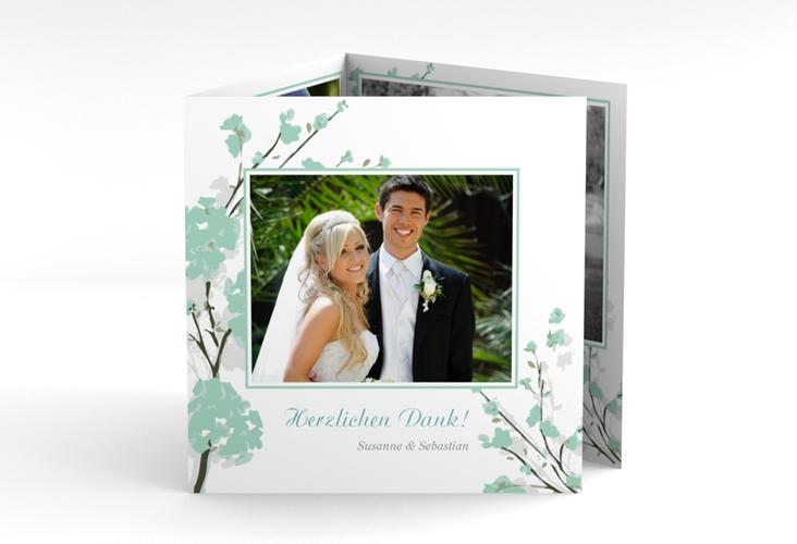 "Danksagungskarte Hochzeit ""Salerno"" Quadr. Karte doppelt mint"