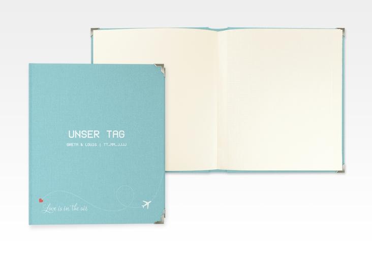 "Hochzeitsalbum ""Weddingpass"" 21 x 25 cm blau"