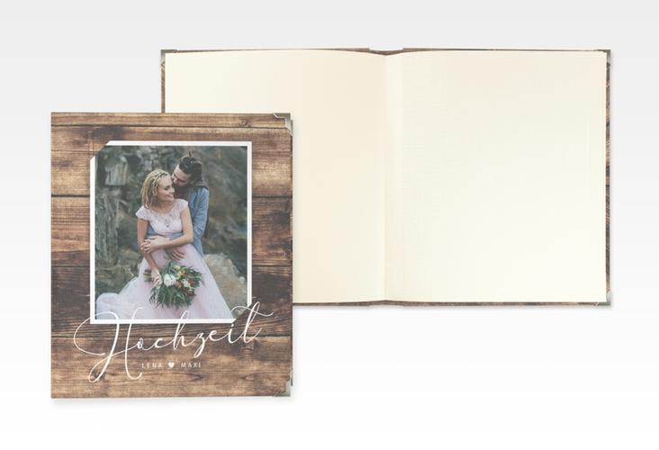 """Hochzeitsalbum """"Rustic"""" 21 x 25 cm braun"""