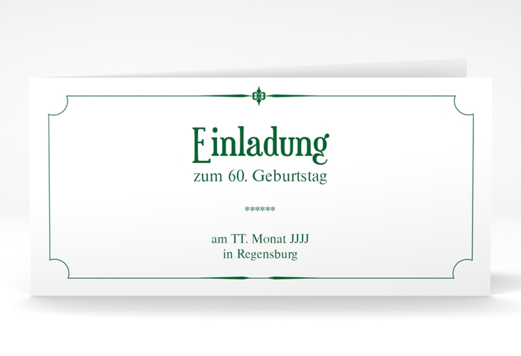 "Einladungskarte ""Helmut/Helmine"" DIN lang Klappkarte"