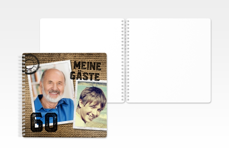 "Gästebuch Geburtstag ""Lifetime"" Ringbindung"