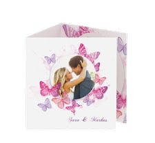 """Danksagungskarte Hochzeit """"Schmetterlinge"""""""