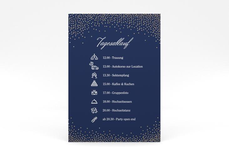 """Tagesablauf Poster Hochzeit """"Glitter"""" 50 x 70 cm Poster blau"""