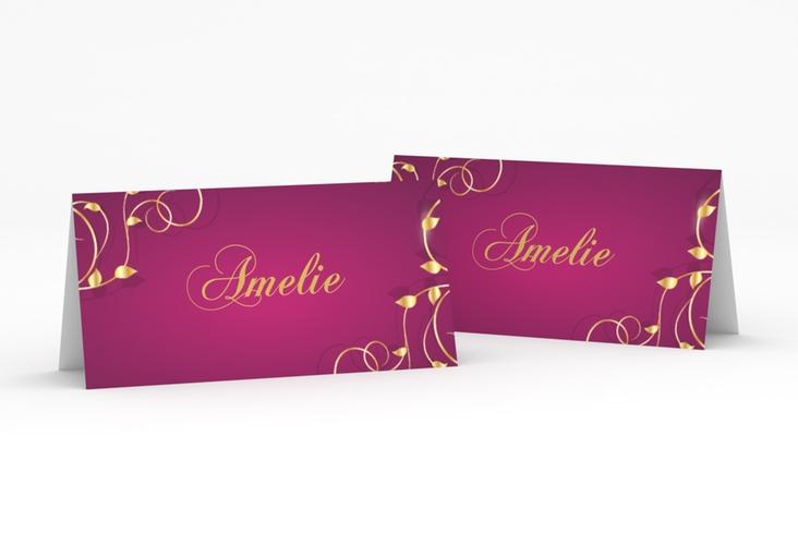 """Tischkarte Hochzeit """"Eternity"""" Tischkarten pink"""