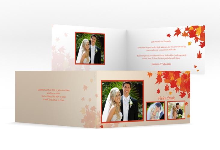 "Dankeskarte Hochzeit ""Zwiesel"" DIN lang Klappkarte"