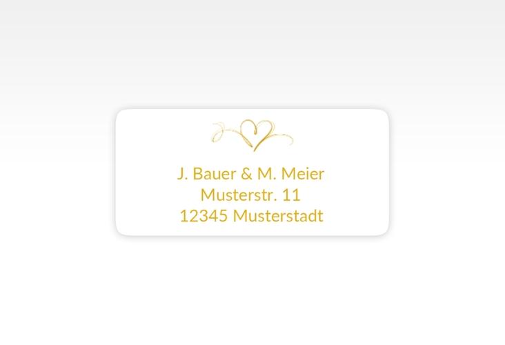 """Absenderetikett Hochzeit """"Envie"""" 45,7 x 21,2 mm gold"""