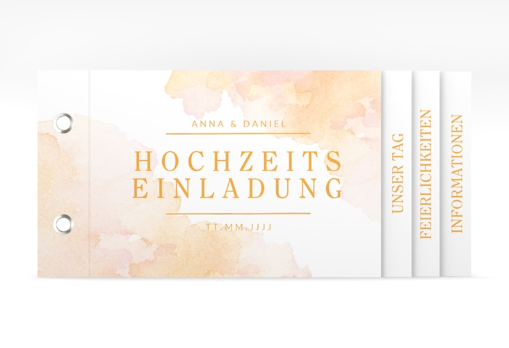 """Hochzeitseinladung """"Blush"""" Booklet"""