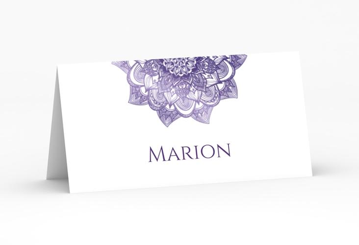 """Tischkarte Hochzeit """"Delight"""" Tischkarten lila"""