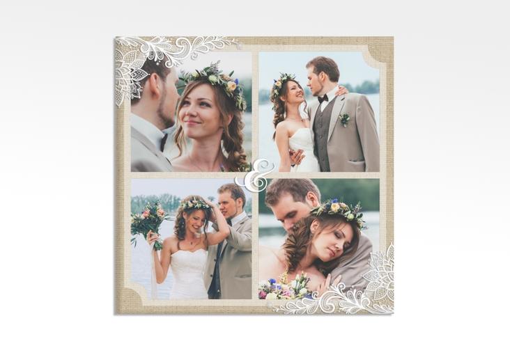 "Hochzeitscollage Leinwand ""Lace"" 30 x 30 cm Leinwand beige"