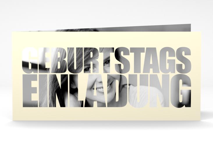 "Einladungskarte ""Jahreszahl"" DIN lang Klappkarte"