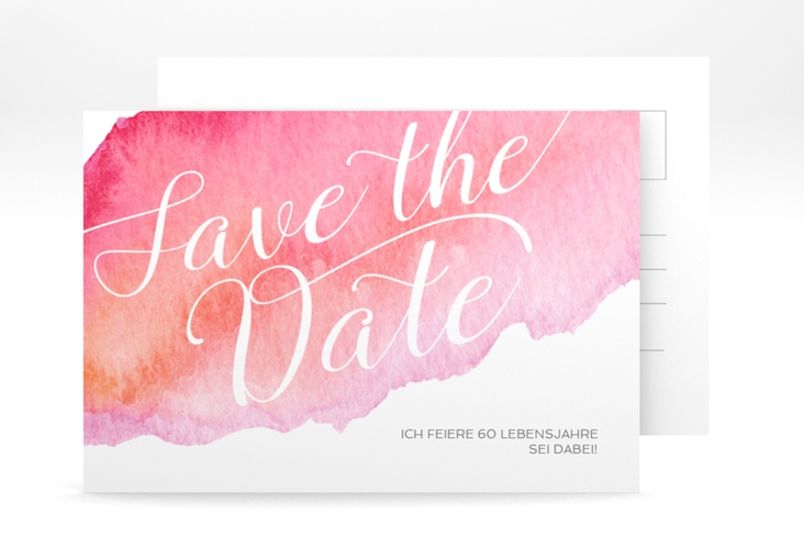"Save the Date-Postkarte ""Aquarell"" A6 Postkarte"