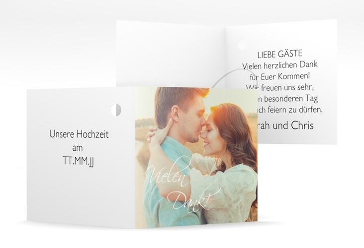 "Geschenkanhänger Hochzeit ""Clarity"" Geschenkanhänger 10er Set weiss"