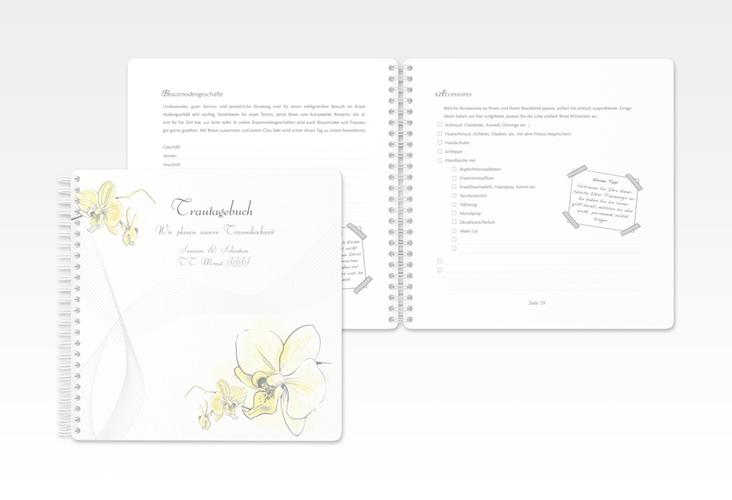 """Trautagebuch Hochzeit """"Modena"""" Trautagebuch Hochzeit gelb"""